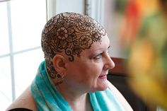 How #Henna #Crowns are a #Beautiful #Statement and a #Healing #Experience for #CancerPatients.    #Cancer #Empowerment #SocialProject #HennaHeals #HennaArt #HennaTattoos #HeadTattoos  #TemporaryTattoos  http://www.hennaheals.ca/.