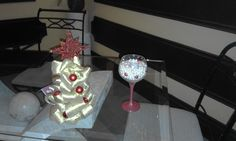 arvore de natal + taça diy