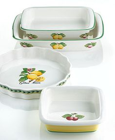 Villeroy U0026 Boch French Garden Fleurence 3 Piece Canister Set (Box Set),  Fine China Dinnerware | At Home...Kitchen Cannisters | Pinterest | Canister  Sets, ...