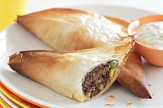 Moroccan beef triangles