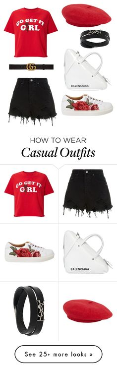 """Casual elegant"" by dessyaramadhanti on Polyvore featuring Miss Selfridge, Ksubi, Gucci, Balenciaga, Yves Saint Laurent, womensHistoryMonth, pressforprogress and GirlPride"
