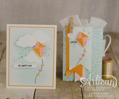 Swirly Bird and Thoughtful Banners stamp sets by Stampin' Up! Card Making Inspiration, Making Ideas, Su Swirly Scribbles, Umbrella Cards, Creative Gift Wrapping, Stampin Up Catalog, Beautiful Handmade Cards, Bird Cards, Tampons