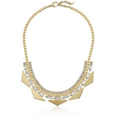 "Fossil ""Fashion"" Triangle Statement Pendant Necklace, 18.5"" + 2""... ($128) ❤ liked on Polyvore featuring jewelry, necklaces, triangle pendant, triangle jewelry, fossil pendant, pendant jewelry and pandora jewelry"
