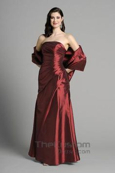 A-line Strapless Floor-length Taffeta Bridesmaid Dresses 14305305