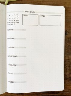 Just Pinned to Bullet Journal: Are you having trouble planning out your weeks? Check out these 18 weekly spread ideas for your bullet journal! Find some inspiration for your journal and maximize your. Bullet Journal School, Bullet Journal Wishlist, Bullet Journal Doodles, Bullet Journal Weekly Layout, Bullet Journal Aesthetic, Bullet Journal Notebook, Bullet Journal Themes, Bullet Journal Spread, Bullet Journal Inspo