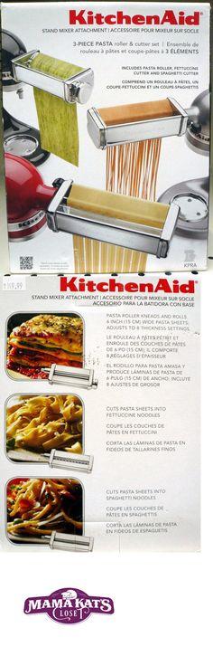 KitchenAid Pasta Roller Cutter Maker 3 piece Stand Mixer attachment IN Box