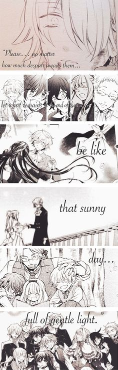 """""""Please… No matter how much despair awaits them… Let what remains at the end of their stories… Be like that sunny day… Full of gentle light."""" - Xerxes Break 