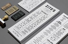 Great type, plus I love everything stamp related | Via Art of the Menu | Design by Tag Collective for Zito's.