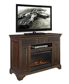 EReady Belcourt TV Stand with Audio  Fireplace 48 ** Check out this great product. (Amazon affiliate link)