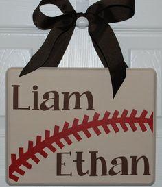 Baseball Sign by StitchesandSigns on Etsy