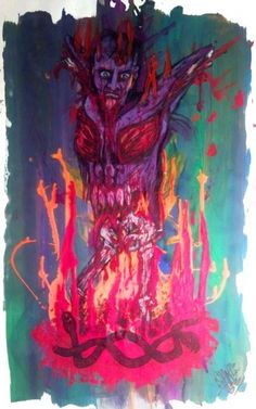 Born Of Fire Print By Sam Hane