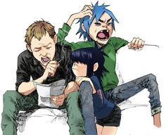 Want to discover art related to gorillaz? Check out inspiring examples of gorillaz artwork on DeviantArt, and get inspired by our community of talented artists. Beatles, 2d And Noodle, Sunshine In A Bag, Gorillaz Fan Art, Demon Days, Villainous Cartoon, Damon Albarn, Jamie Hewlett, Tank Girl