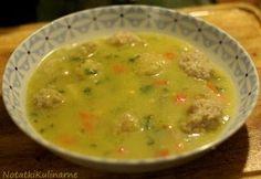 Zupa Sukkot z kluskami szczypanymi