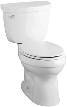 KOHLER K-3609-0 Cimarron Comfort Height Elongated Two Piece Toilet