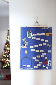 This DIY Nativity Advent Calendar will help you keep Christ in Christmas. Mary and Joseph move closer to Bethlehem each day. Kids will love this nativity.