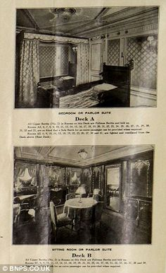 Different class on Titanic: The pictures on the left of decks A and B show the opulence in which some stayed compared with those in the lower classes on decks C and D