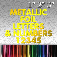 details about metallic foil letters numbers iron on fabric transfer custom sticker craft