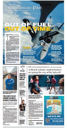 The Virginian-Pilot's front page for Saturday, April 12, 2014.