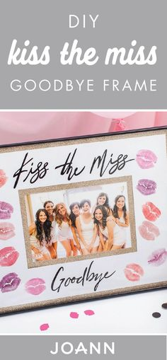 Ready for an extra special gift all the bridesmaids can give the bride-to-be? Check out this DIY Kiss the Miss Goodbye Frame from JOANN! We love the idea of adding the group present to a bridal shower or bachelorette party.