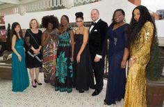 Abby Alba (left), with other 2014 DCFP designers Theresa Batson, Korto Momolu, Ngozi Okechukwu, Stefane Myles, Erik Sellers, Shonda Stroud Ali-Shamaa and Tiffany Pippins. Tamara Rudley is not pictured. Photo by Brian Chilson.