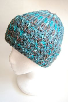 Baby, it's cold outside. I made this one for myself. I didn't have one single hat that I could wear out of the house and not sprint for t...