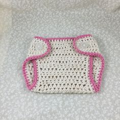 Crochet Diaper Cover Handmade Detailed In Pink by ForLittlePaws Awesome baby shower gift