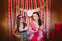 DIY Bachelorette party photo booth! DIY Lingerie shower photo booth