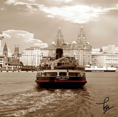 The Royal Daffodil ferry on the River Mersey. Liverpool Life, Liverpool Waterfront, Liverpool City Centre, Liverpool Docks, Liverpool History, Liverpool England, Detective, Liverpool Fc Wallpaper, Merchant Navy