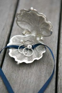 Beach Wedding Photos Unique Ring Pillow Alternatives - Eight adorable ring pillow alternatives for your littlest attendant to carry down the aisle. Perfect Wedding, Our Wedding, Dream Wedding, Wedding Themes, Wedding Decorations, Wedding Ceremony, Trendy Wedding, Wedding Photos, Beach Ceremony