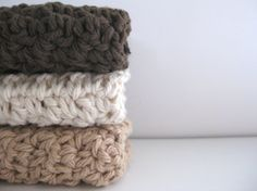 crochet cotton washcloth/face scrubbies AND you can by CocoaBeans