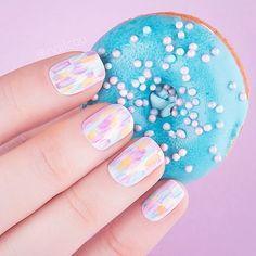 Everyday nails, Light summer nails, Rainbow nails, Short nails for kids, Simple nail art, Summer colorful nails, Summer nails 2017, Trendy colorful nails