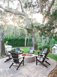 HGTV Dream Home 2017: Outdoor pictures featuring Belgard's Weston Fire Pit and walkways created with Old York pavers. #HGTVDreamHome #HGTV http://www.belgard.com/hgtvdreamhome