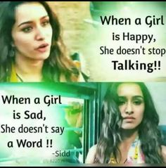 Very true.so when a girl stop talking suddenly it means she is hurt True Quotes About Life, Real Life Quotes, True Love Quotes, Reality Quotes, Girly Attitude Quotes, Girly Quotes, Movie Quotes, Funny Quotes, Sad Sayings