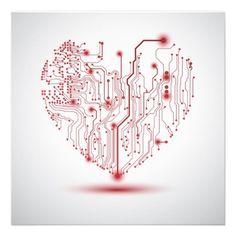 Sfondo con cuore su schema elettrico - Heart electric board - Buy this stock vector and explore similar vectors at Adobe Stock Web Design, Vector Design, Vector Art, Graphic Design, Tatoo Art, Body Art Tattoos, Circuit Board Tattoo, Heart Envelope, Valentine Background