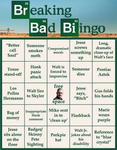Breaking Bad bingo.