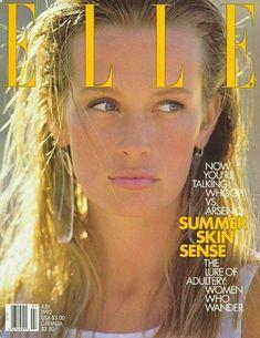 Estelle Lefébure: US Elle, July 1992. Photo by Gilles Bensimon