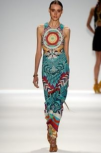 Hoffman's show did feature a much wider array of intricate, slightly tribal-inspired prints. | Illuminati Symbols Rife At Top New York Fashion Show, Naturally