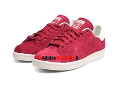 Adidas Originals Stan Smith W - Chaussure Pas Cher Pour Homme/Femme Rouge/Blanc S32260-Boutique Adidas Originals de Running (FR) - LaAdidasOriginals.fr
