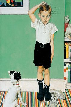 He's Going to Be Taller Than Dad by Norman Rockwell Canvas Print #1538 (my picture was inspired by this)