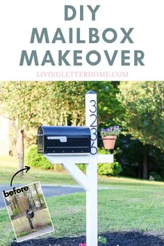 Modern Farmhouse DIY Mailbox Makeover - Living Letter Home Check out this guide to a budget DIY mail Mailbox Makeover, Diy Mailbox, Modern Mailbox, Mailbox Ideas, Trendy Home Decor, Diy Home Decor, Farmhouse Mailboxes, Outdoor Projects, Diy Projects