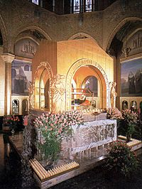 St. Rita, Patron of impossible cases, Saint Rita's tomb with her incorrupt body at the Basilica of Cascia