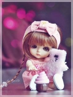 New doll bjd barbie ideas Cute Cartoon Pictures, Cute Cartoon Girl, Beautiful Barbie Dolls, Pretty Dolls, Cute Love Images, Cute Baby Wallpaper, Cute Baby Dolls, Girly Drawings, Cute Photography
