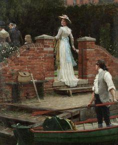 Edmund Blair Leighton (English, 1853-1922). The glance that enchants
