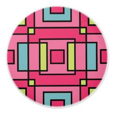 Trendy Colours Geometric Square Pattern