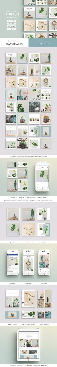 NATURALIS  Social Media Pack by 46&2 Collective on @creativemarket