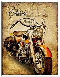 A beautiful impression of the classic motorcycle art.- A beautiful impression of the classic motorcycle art. Map…- A beautiful impression of the classic motorcycle art. Harley Davidson Posters, Harley Davidson Photos, Harley Davidson Merchandise, Classic Harley Davidson, Harley Davidson Motorcycles, Motorcycle Posters, Motorcycle Art, Bike Art, Classic Motorcycle