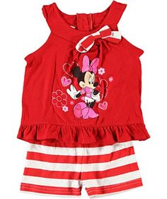 """Minnie Mouse """"Strike a Pose"""" 2-Piece Outfit (Sizes 2T - 4T) (bestseller)"""