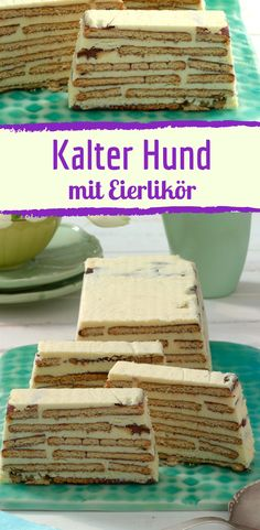 You have never eaten cold dog like this - with eggnog and white chocolate - Cold dog with eggnog Informations About So hast du kalten Hund noch nie gegessen – mit Eierlikör - Chocolate Blanco, White Chocolate, Eggnog Recipe, Dog Cakes, Sweet Cakes, Creative Food, No Bake Cake, Cookie Recipes, Cheesecake Recipes