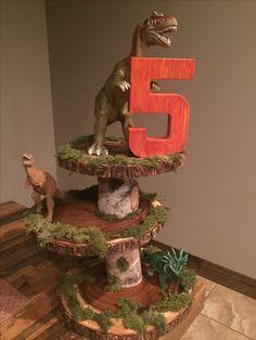 Dinosaur birthday party cupcake stand!