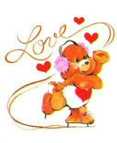 awww I would have loved this when I was little <3 :)  Care Bears Tenderheart Bear ice-skating